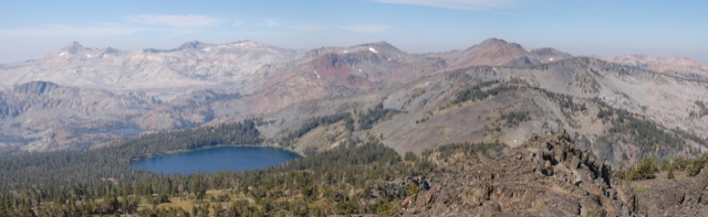 Gilmore Lake and the rest of Desolation Wilderness.