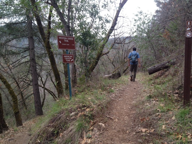 After leaving the Quarry Trail, follow signs for American Canyon Trail.