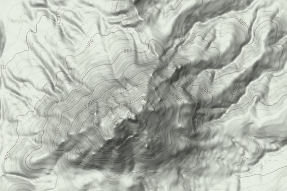 North Butte with hillshading - Google Maps 2014