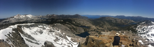 At the summit of Ralston Peak