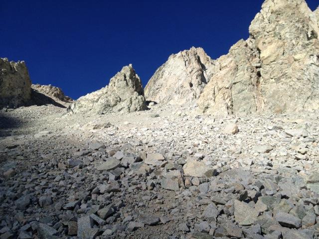 Deep blue sky over Shepherd Pass.
