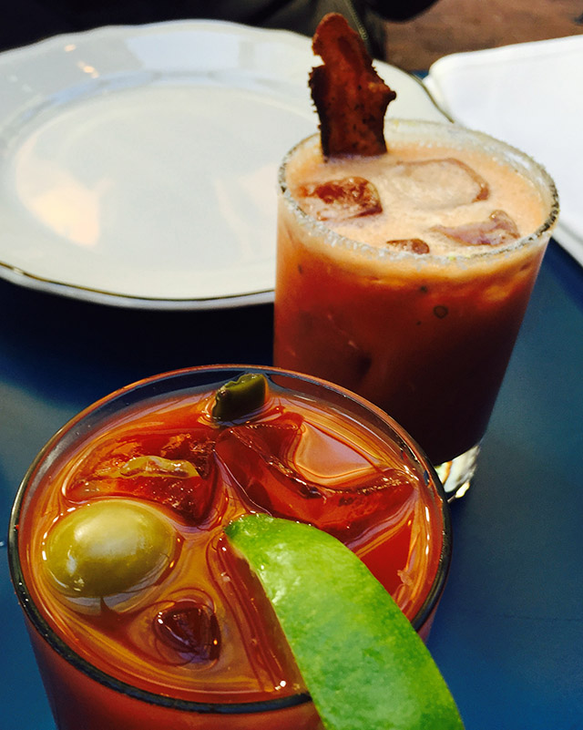 Yes, that is indeed a piece of bacon in that Bloody Mary.