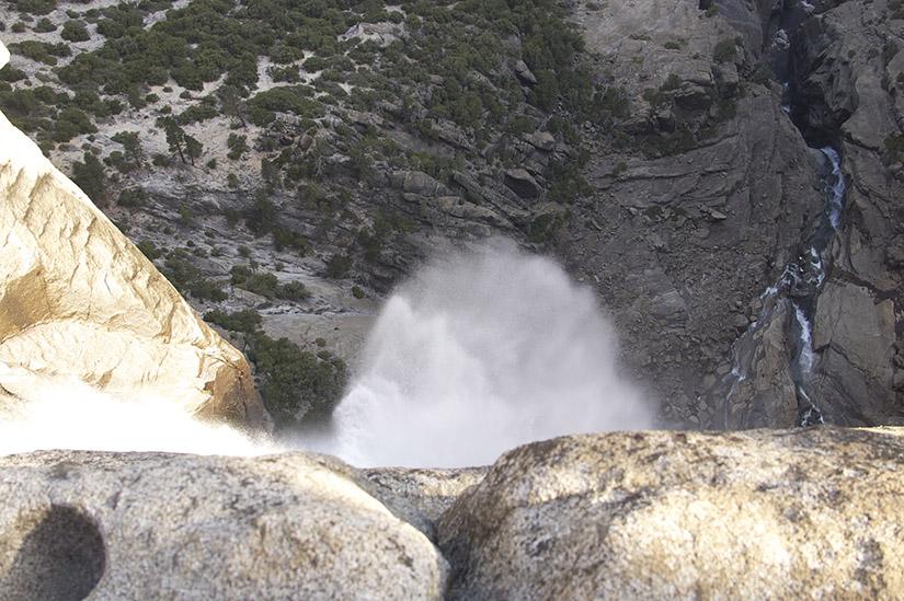 Looking down Upper Yosemite Fall.