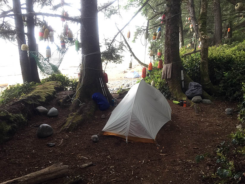 Our first campsite at Michigan Creek.