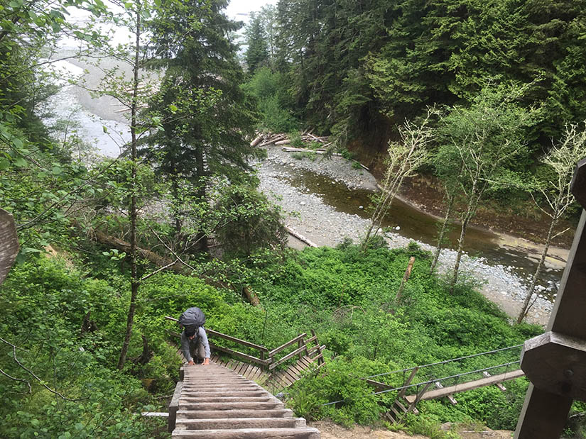 Climbing up and away from the Logan Creek crossing.