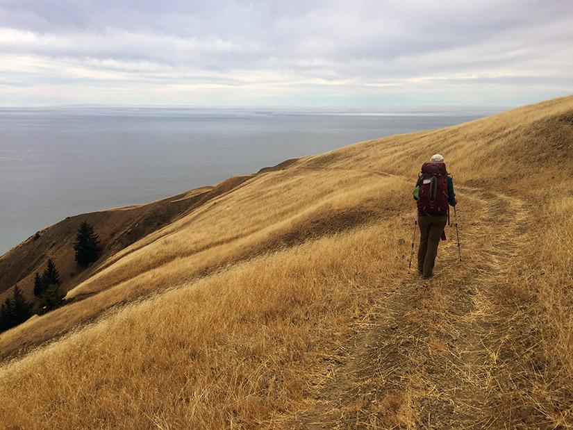 Hiking down the Spanish Ridge Trail.