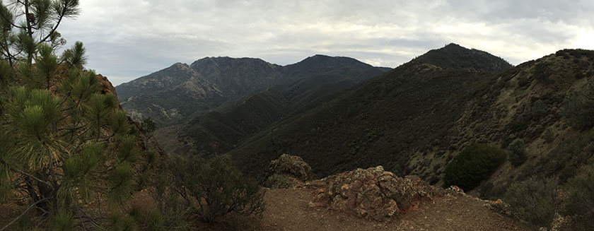 From left to right, Mount Olympia, North Peak, Mount Diablo and Eagle Peak.